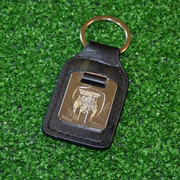 Leather/Crest Keyring