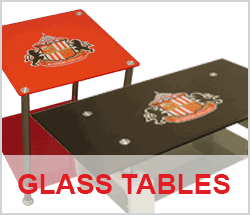 Sunderland AFC Glass Tables