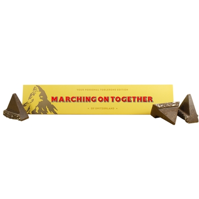 MARCHING ON TOGETHER TOBLERONE