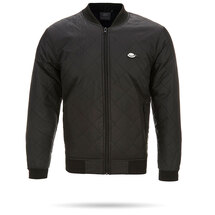 Luton Town BC Black Quilted Bomber Jacket