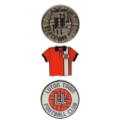 Luton Town Retro Pin Badge Set