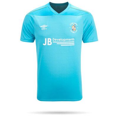 20/21 Luton Town Umbro Blue Goal Keeper Shirt Junior