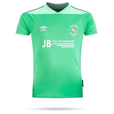 20/21 Luton Town Umbro Green Goal Keeper Shirt Junior