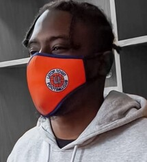 Luton Town Retro Face Covering Mask
