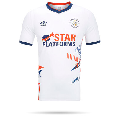 20/21 Luton Town Umbro Replica White Shirt Junior