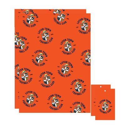 Luton Town Wrapping Paper with Tags