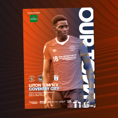 Luton Town V Coventry Programme