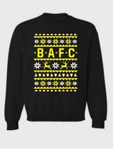 XMAS SWEATSHIRT ADULT BLACK