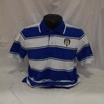 Thomas Polo Royal/White        Striped Polo Shirt