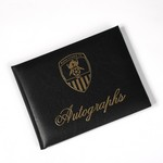 NCFC AUTOGRAPH BOOK            BLACK WITH GOLD PRINTED CREST