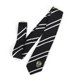 BW STRIPED TIE WITH CLUB CREST IN PRESENTATION BOX