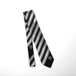 B/W STRIPED SILK TIE