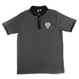 PEGASUS POLO WITH TONAL BADGE  MOTTLED BLACK DESIGN