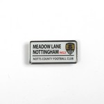 MEADOW LANE PIN BADGE          STREET SIGN NG2