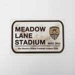 MEADOW LANE WALL PLAQUE        METAL STREET SIGN