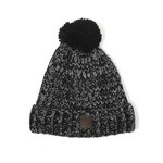 MOTTLED POM POM HAT            LEATHER PATCH CREST