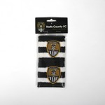 NCFC SWEATBANDS                PAIR B/W STRIPED