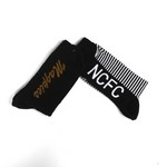 TWO PAIR GENTS DRESS SOCKS     MAGPIES AND NCFC ON SOLE