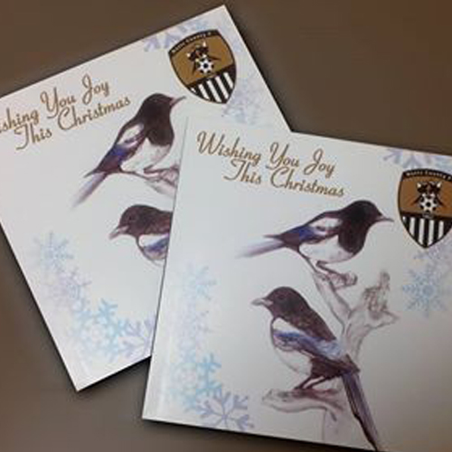 XMAS CARD                      TWO MAGPIES JOY THIS CHRISTMA