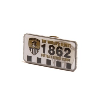 1862 OBLONG PIN BADGE