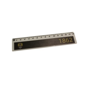6 INCH RULER                   1862 AND CLUB CREST