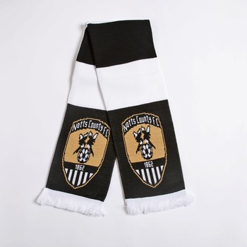 NCFC JAQUARD BAR SCARF         WITH CLUB CRESTS ON END