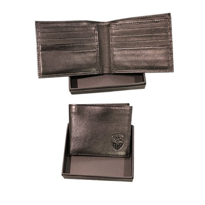 LEATHER CARD WALLET            IN PRESENTATION BOX