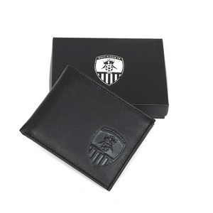LEATHER GENTS POUCH WALLET     IN PRESENTATION BOX