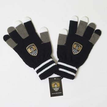 JUNIOR NCFC GLOVES             MULTI COLOURED FINGERS
