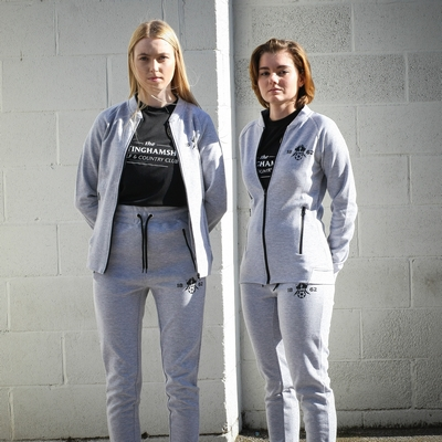 LADIES SLIM FIT TRACK JACKET   1862 COLLECTION