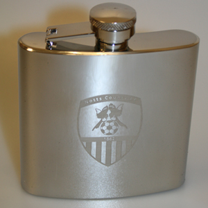 SS ENGRAVED HIP FLASK
