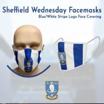 Blue/White Stripe Logo Face Covering