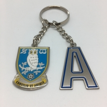 Initial and Crest Keyring A