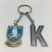 Initial and Crest Keyring K