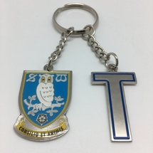 Initial and Crest Keyring T