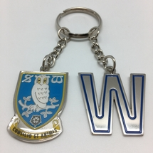 Initial and Crest Keyring W