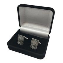 Crest Cufflinks AntiqueSilver