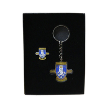 Boxed 150th Badge Key Ring Set