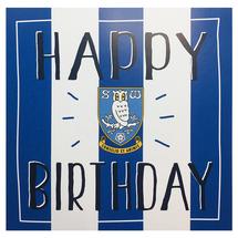 Blue Striped Birthday Card