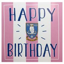 Pink Striped Birthday Card