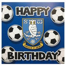 Blue Football Birthday Card