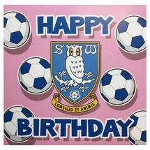 Pink Football Birthday Card