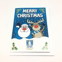 Santa and Rudolph Xmas Card
