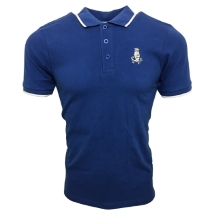 Crescent Polo (Royal/White)