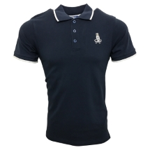 Crescent Polo (Denim/White)