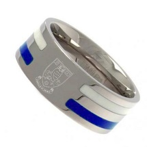 Colour Stripe Crest Band Ring