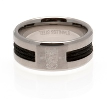 Black Inlay Crest Band Ring