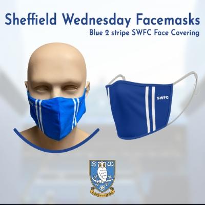 Blue 2 stripe SWFC Face Covering