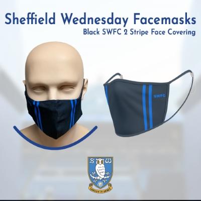 Black SWFC 2 Stripe Face Covering