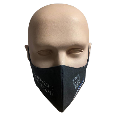 2 Tone Stripe Black Face Cover